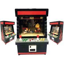 rikuzo street fighter arcade game model building block set 1060pcs