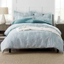 the company snow tree holiday flannel queen duvet cover 50245d q multi the home depot