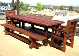 rustic wood patio furniture. Diy Rustic Wooden Outdoor Furniture Of Dining Set Ideas Exterior Table Wood Patio