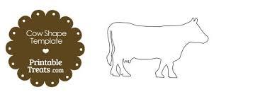Cow Template Printable Cow Shape Template Printable Treats Com