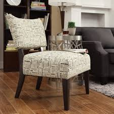 Oxford Creek Transitional Elliott US State Text Print Armless Accent Chair  - Home - Furniture - Living Room Furniture - Living Room Chairs