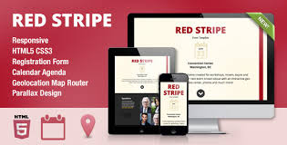 Stripe Templates Red Stripe Responsive Parallax Event Site Template By Wrwipeout