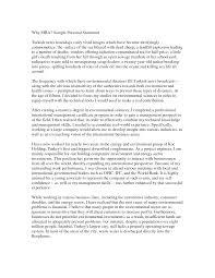 Sample Statement Of Purpose Environmental Science