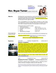 pastor resume sample experience resumes