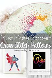 How To Make A Cross Stitch Pattern Interesting Must Make Modern Cross Stitch Patterns Sew What Alicia