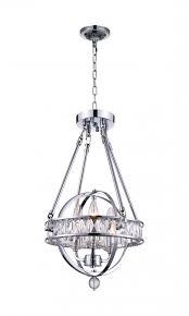 3 light mini chandelier with chrome finish