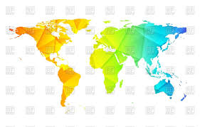 Low Poly World Map Abstract Background Stock Vector Image