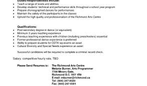 Resume Format For Dance Teacher What Should I Write My College Essays About Quora