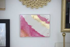 diy watercolor and gold leaf art, crafts, how to, wall decor