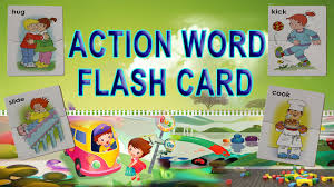 action word flash card