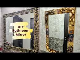 diy antique finish mirror frame diy