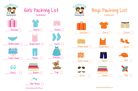 list for traveling free printable picture packing list