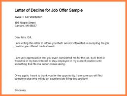 Decline A Job Offer Letter - Kleo.beachfix.co