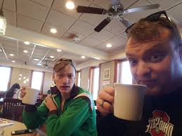 stuck in the buckosphere  sunday morning marcus and i rode our bikes up to akron we grabbed a small breakfast at bob evans in wooster