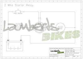 starter relay lamberts bikes 2 stud 2 wire starter relay wiring diagram