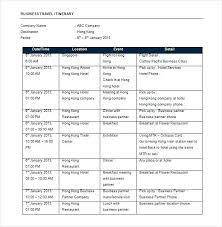 Word Travel Itinerary Template Travel Itinerary Template Word Trip Schedule Field Planner