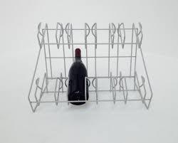 wire wine rack. Custom Made 8 Bottle Wire Wine Rack E