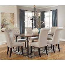 ashley dining room table set. signature design by ashley tripton 7-piece rectangular dining room table set w/ wood r