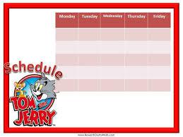 Kids Schedule Template Free Weekly Schedule Template Printable