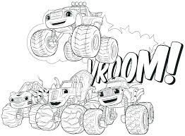 Coloring Pages Blaze Cartoon Coloring Pages And The Monster