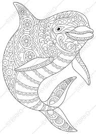 Small Picture Adult Coloring Pages Dolphin Zentangle Doodle Coloring Pages for
