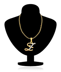 vk jewels alphabet collection initial pendant letter z gold and rhodium plated