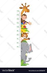 Giraffe Monkey Tiger Meter Wall Or Height Chart