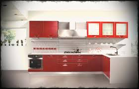 wonderful red indian kitchen cabinets design ideas with shiny modern cabinet featuring floating has a frosted
