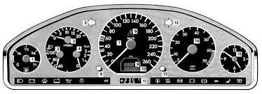 mercedes benz w Комбинация приборов измерители и контрольные  2 4 6 Комбинация приборов измерители и контрольные лампы и световые индикаторы mercedes benz