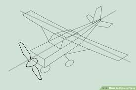 Airplane Drawing 4 Ways To Draw A Plane Wikihow