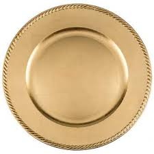 charger plates decorative: quot gold leaf plastic plate charger