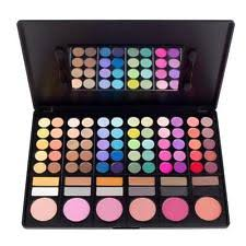 coastal scents 78 eye shadow blush palette makeup cosmetic set