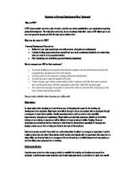 personal development plan gcse business studies marked by  page 1 zoom in