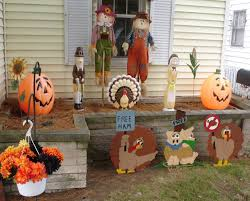 divine thanksgiving outdoor inspiring design elish cute straw dolls also fabulous orange pumpkins complete enchanting turkey decoration