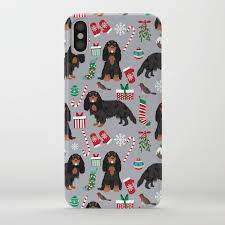 cavalier king charles spaniel black and tan dog gifts pet friendly iphone case
