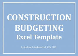 Construction Budgeting Excel Template
