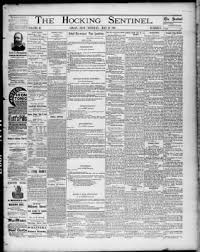 The Hocking Sentinel From Logan Ohio On May 26 1887 Page 1