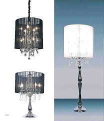 standing chandelier floor lamp table with hanging crystals lamps lovely tags crystal