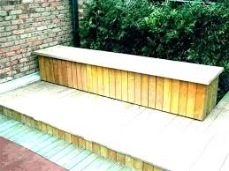 porch storage bench building a deck benches plans ideas built in seat outdoor large