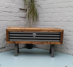 Image 0 Rustic Industrial Tv Stand E83