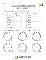 24 Hour Clock Conversion 12 To 24 Hour Clock 2 24 Hour