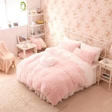 pink bedding excellent pink white girls cashmere wool velvet ruffle duvet cover bedding pink bedding sets pink bedding