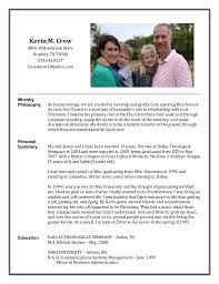 Pastoral Resume Examples