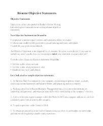 Sample Resume Objectives Statements College Resume Objective 2 Wikirian Com