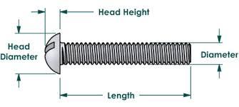 Slotted Screw Size Chart Machine Screws Slotted Round Head Brass 4 40 X 3 4