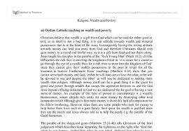 ai outline catholic teaching on wealth and poverty gcse document image preview