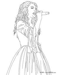 Small Picture Taylor Swift singing close up coloring page More Taylor Swift