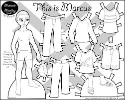 Boy Paper Doll Coloring Pages