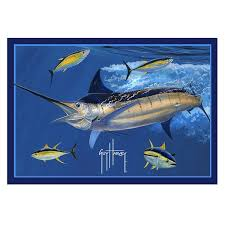marlin tuna area rug