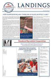 May 2015 Maine Lobstermen S Community Alliance